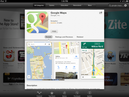 Google Maps Has Returned to the App Store for the iPhone!