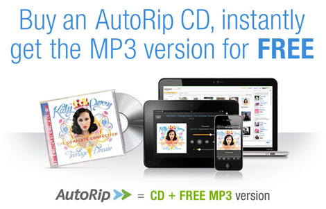 "Amazon Introduces ""Amazon AutoRip"", Giving Customers Free MP3 Versions of Purchased CDs"