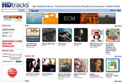 HDtracks Offers a Master Quality Music Experience for the Masses