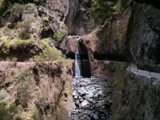 Levada Nova, waterfall, Madeira