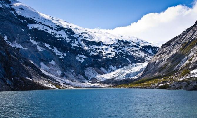 winter glacier