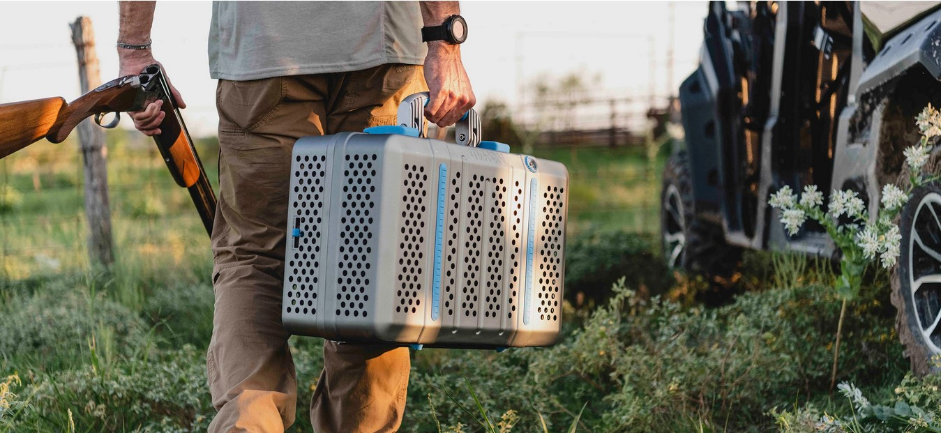 Nomad portable suitcase grill