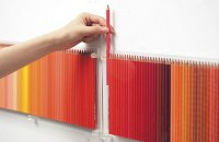 Colored Pencil Wall Display Made of 500 Pencils | Gearfuse