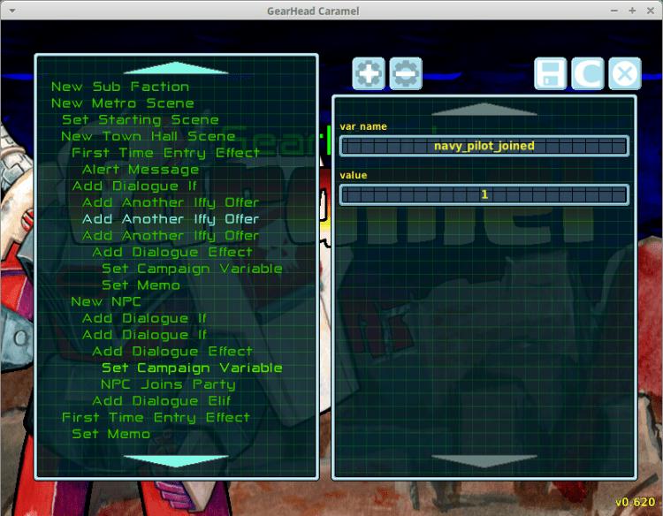 A picture of the GearHead Caramel scenario generator.