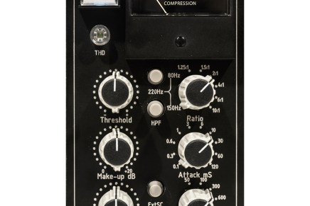 new TK Audio BC501 Stereo Bus Compressor for 500 series