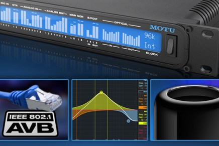 MOTU audio interfaces deliver AVB/TSN Ethernet support for OSX