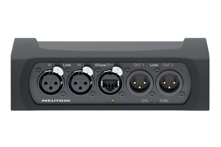 New Dante NA2-IO-DLINE Interface from Neutrik