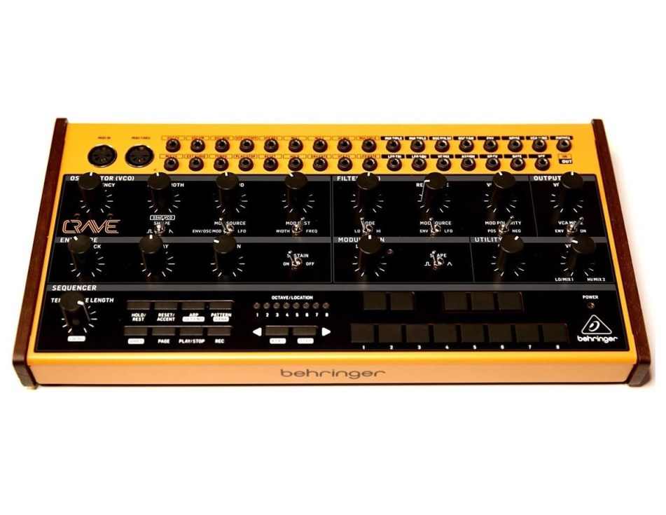 behringer announces the crave analog semi modular synthesizer. Black Bedroom Furniture Sets. Home Design Ideas