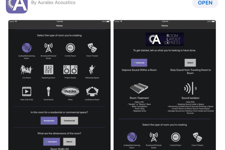 Auralex Acoustics offers standalone app RLX – Room Layout eXpress