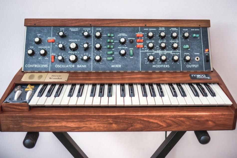 Bob Moog Foundation Announces 2019 Raffle for Vintage Minimoog Synthesizer Signed by Stevie Wonder