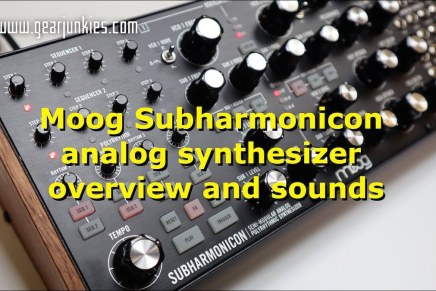 Gearjunkies video – Moog Subharmonicon analog synthesizer overview and sounds