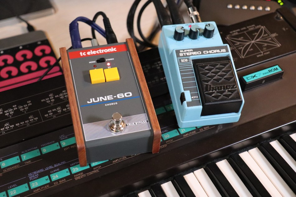 Gearjunkies video – The Yamaha DX7 and 4 different chorus effects