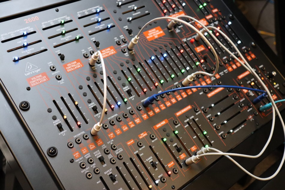 Gearjunkies video – Behringer 2600 patching episode 2: Percussion