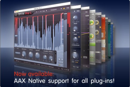 FabFilter updates all plug-ins – introducing AAX support