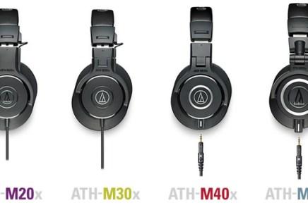 Audio-Technica updates their M-Series of Pro Monitoring Headphones