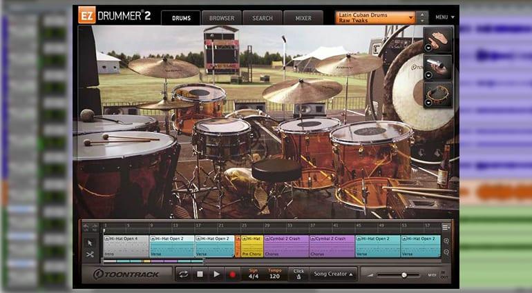 toontrack classic rock ezx sample pack GUI