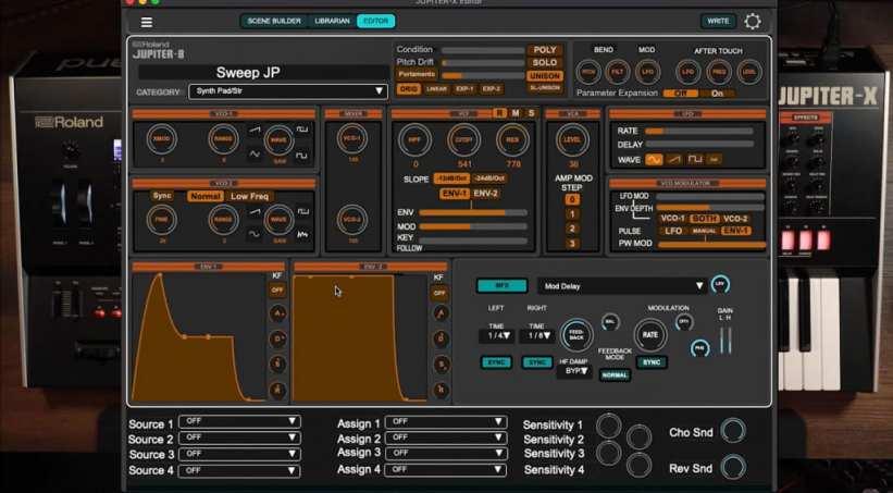 JUPITER-X Editor - synth model editor