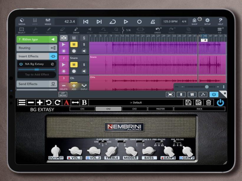 Nembrini Audio BG Extasy on iOS