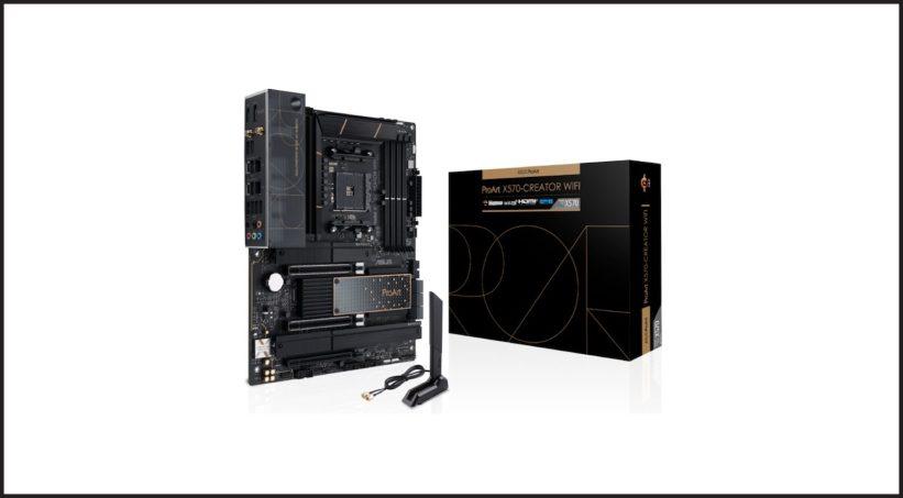 The new ASUS ProArt X570-Creator WiFi motherboard.