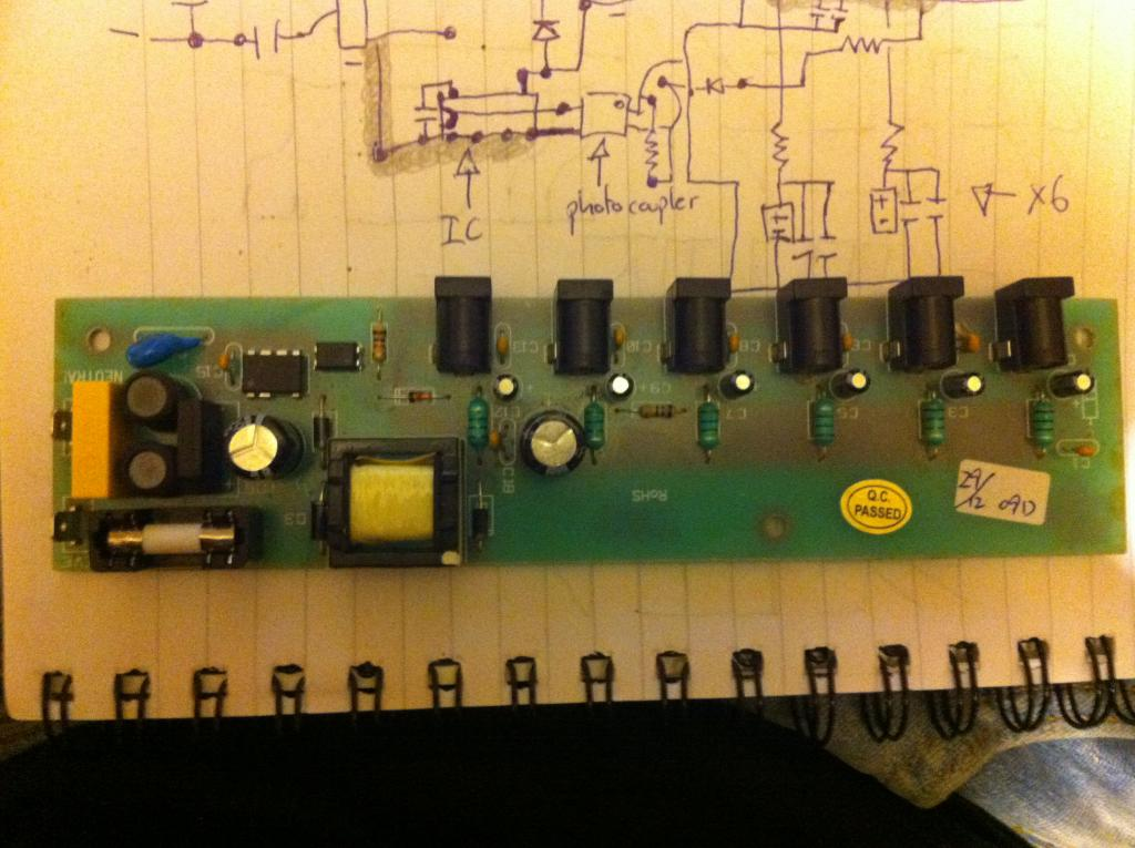 Help Cleaning Up Ripple On 9v 6 Channel Guitar Pedal Power Supply