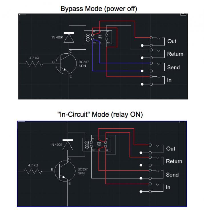 true bypass looper wiring diagram 7 way rv flat blade trailer side dpdt relay - gearslutz pro audio community