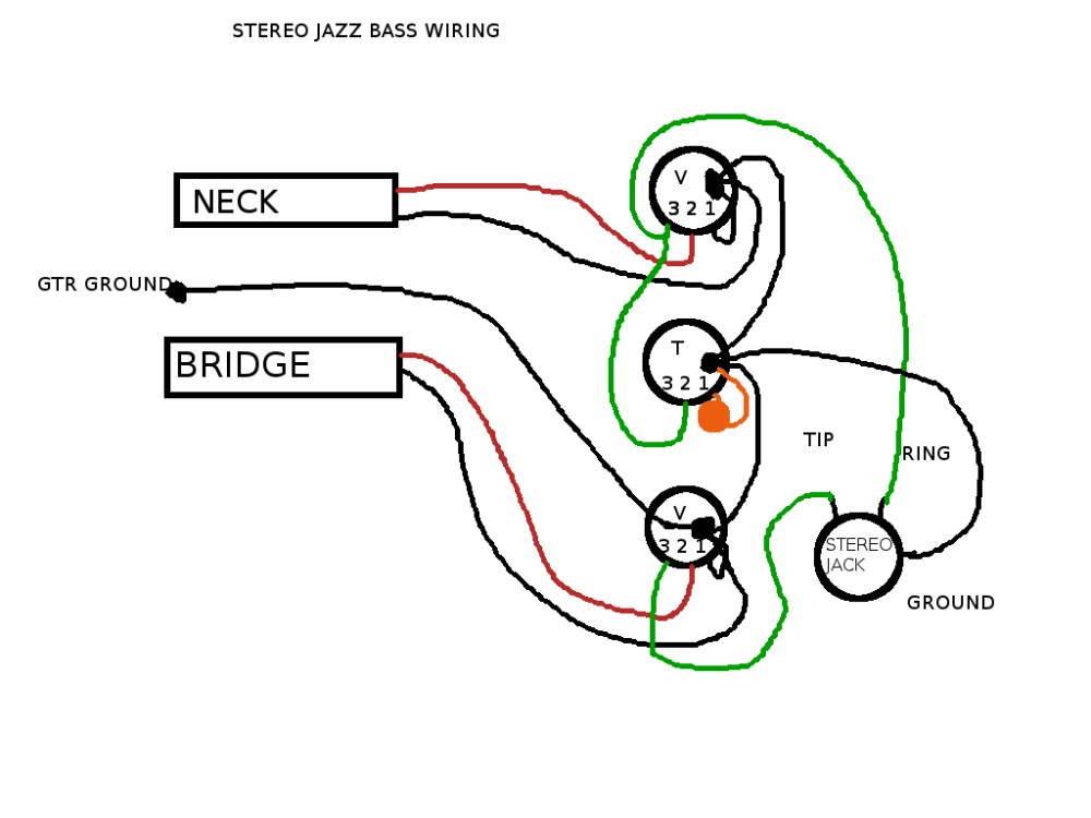 medium resolution of passive pickup system on stereo bass guitar and problem with pedals jazz bass