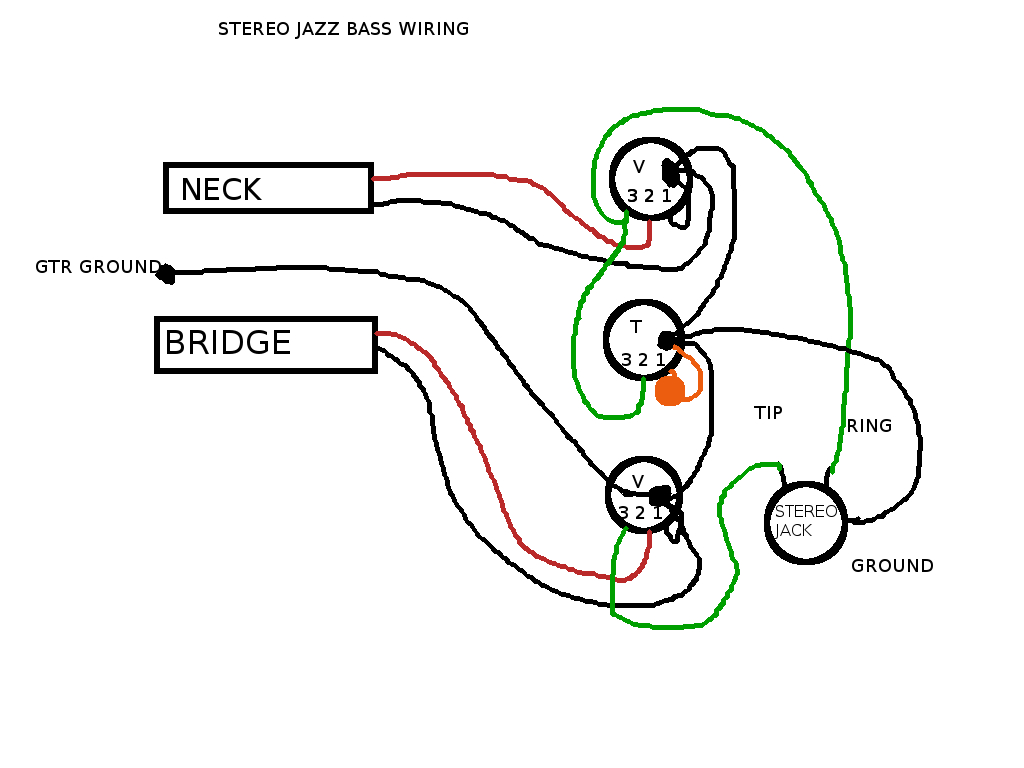 hight resolution of passive pickup system on stereo bass guitar and problem with pedals jazz bass