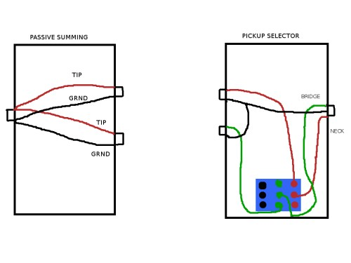 small resolution of  passive pickup system on stereo bass guitar and problem with pedals boxes jpg