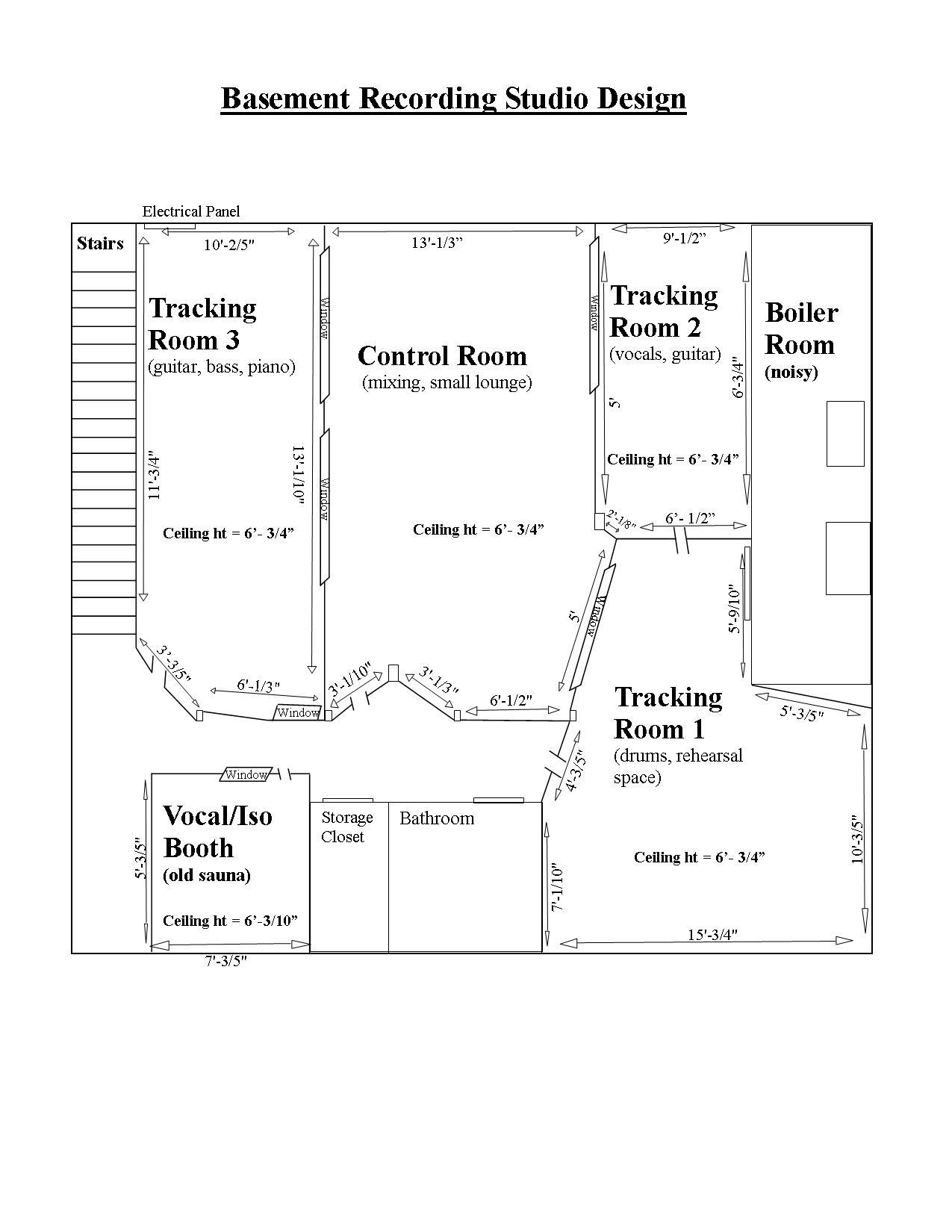 hight resolution of studio design and wiring scheme need help basement recording studio