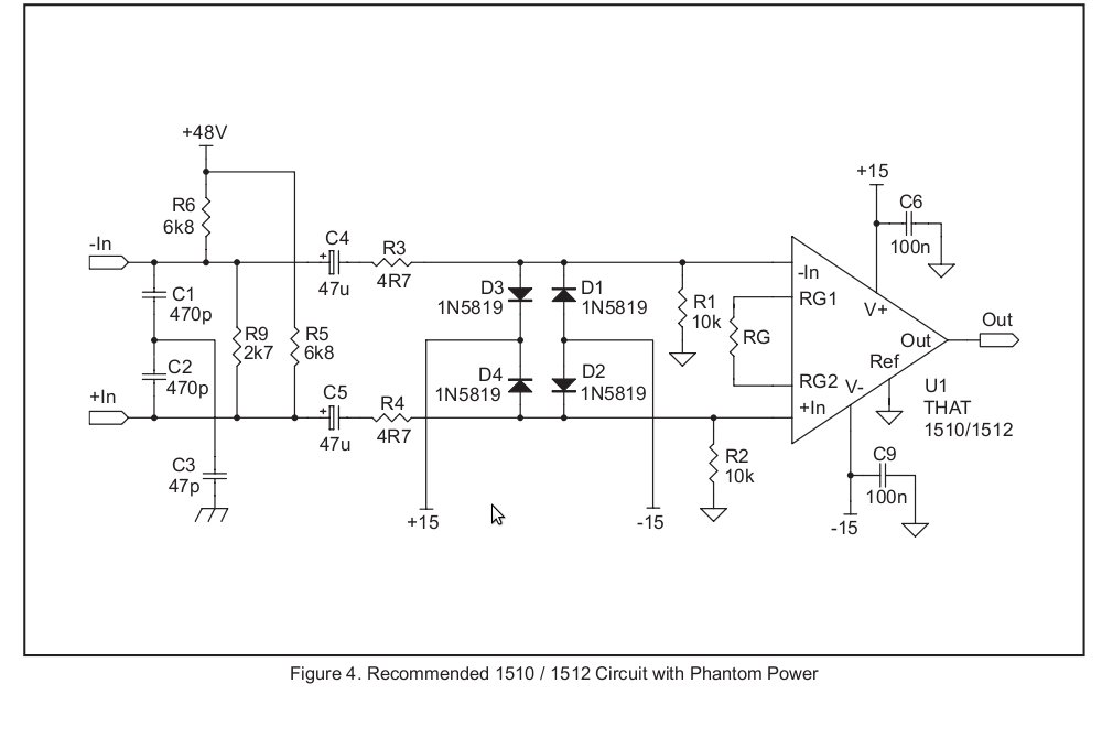 need schematic for UNbalanced OUTPUT STAGE for THAT1510