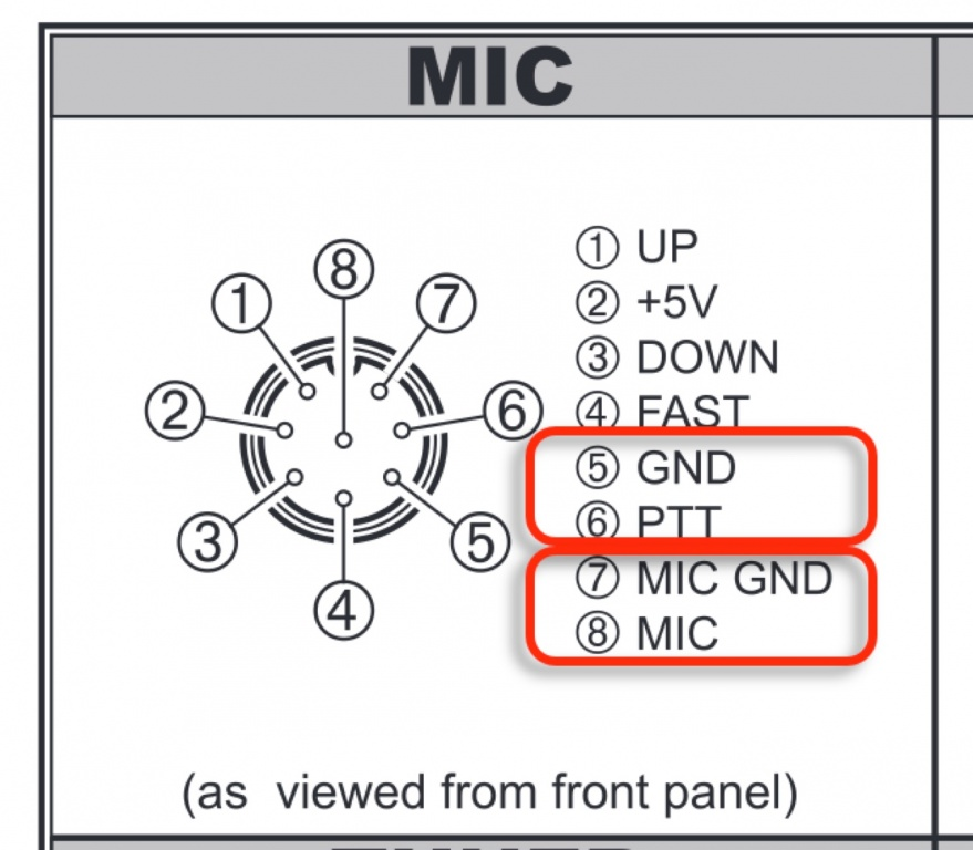 Yaesu Microphone Wiring Diagram Yaesu Mic Pinout Wiring