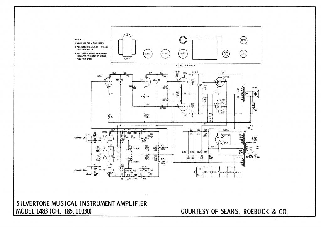Transformer inside speaker cab (Silvertone amp