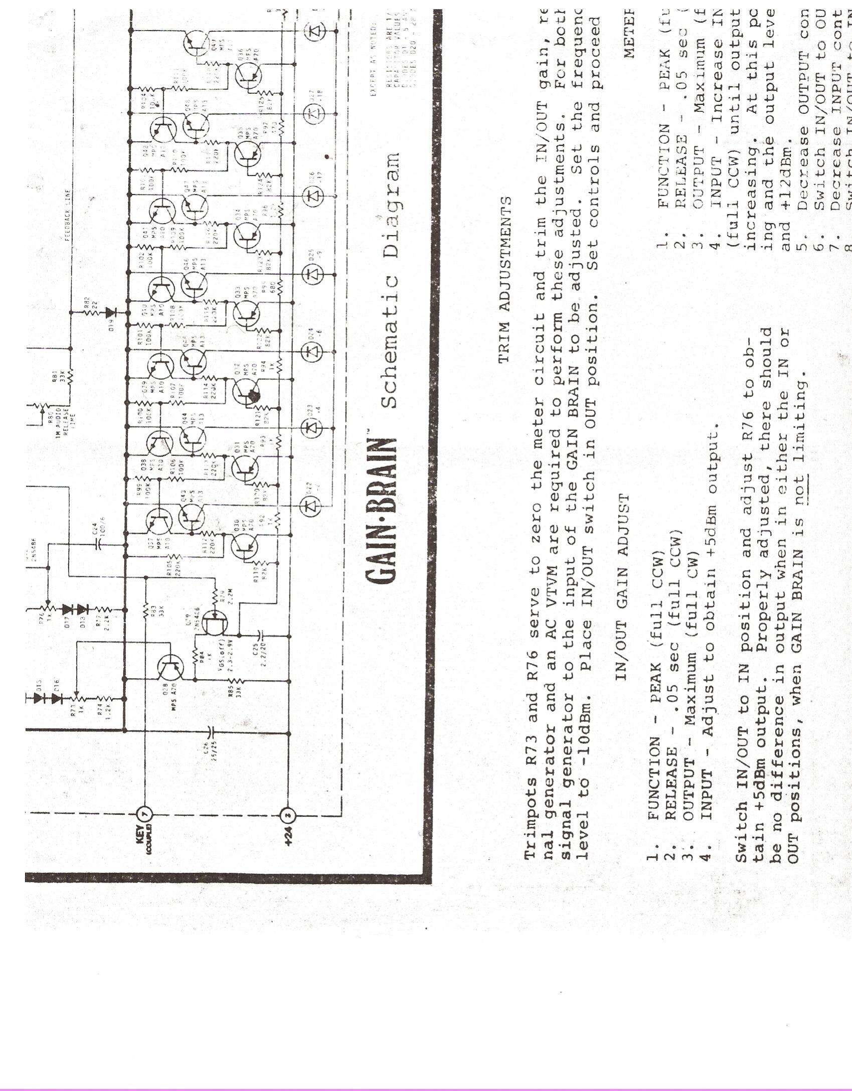 Valley People Schematics Manuals