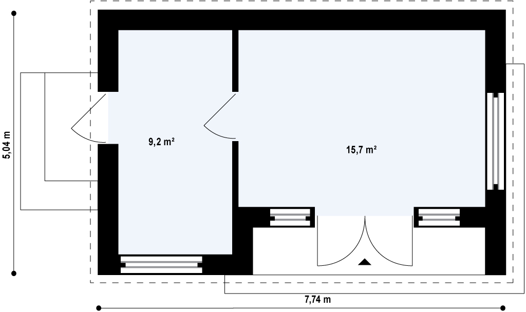 Layout suggestions for 25 sqm practice/recording space