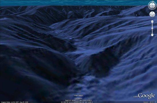 New underwater terrain