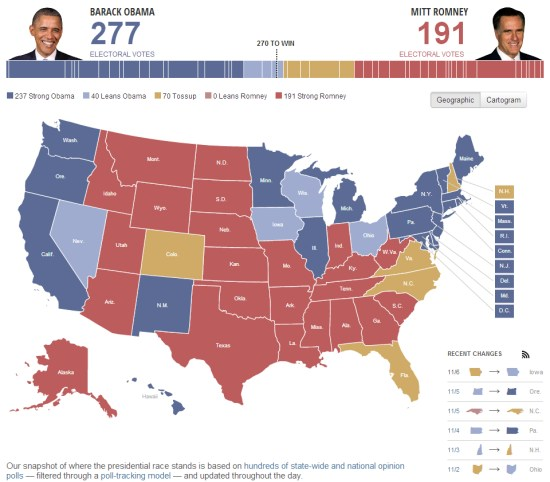 Mapping the 2012 US Presidential Election - Google Earth Blog on