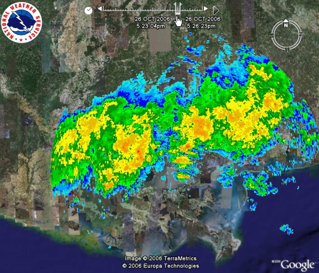 National Weather Service Releases Radar Loops for Google Earth ... on