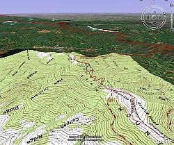 Appalachian Trail in Google Earth