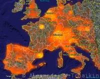 Panoramio Photo Density Map