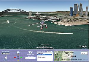WikiSailing flying tour in Google Earth plugin