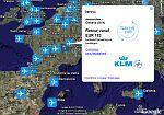 Dutch KLM airfares in Google Earth