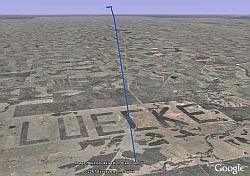 Luecke in Google Earth
