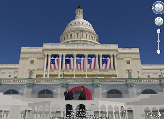 Obama Inauguration in 3D in Google Earth