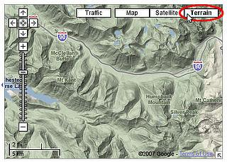 Terrain in Google Maps