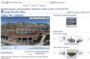Google Boulder Office in 3D in Google Earth