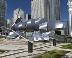 Pritzker Pavilion in 3D in Google Earth