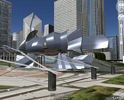 Pritzker Pavilion in 3D in Google Earth