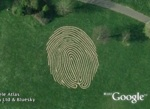 World's largest fingerprint in Google Earth
