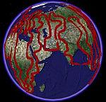 Santa Route in Google Earth