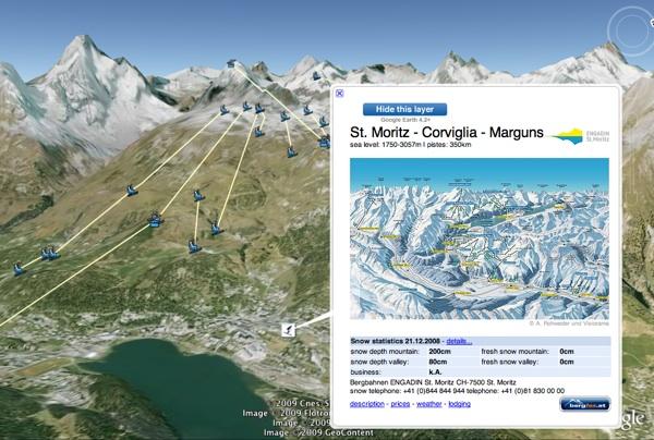 Layer info on Ski the Alps layer